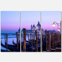 Venice Sunset Panorama at Twilight - Extra Large Seascape Metal Wall At - 36Wx28H
