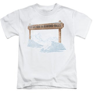 Its A Wonderful Life/Bedford Falls Short Sleeve Juvenile Graphic T-Shirt in White