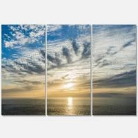 Sunset Sky above Atlantic - Oversized Beach Metal Wall At - 36Wx28H