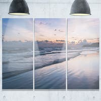 Blue Sunset Sea Waves Thailand - Oversized Beach Metal Wall At - 36Wx28H
