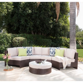 Christopher Knight Home Madras Saint Luca Outdoor Wicker 5-piece Sectional Set with Ottoman