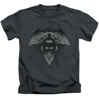 Batman V Superman/Fear Short Sleeve Juvenile Graphic T-Shirt in Charcoal