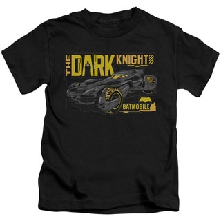 Batman V Superman/Mobile Dark Knight Short Sleeve Juvenile Graphic T-Shirt in Black