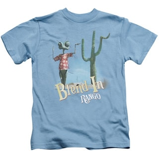 Rango/Blend in Short Sleeve Juvenile Graphic T-Shirt in Carolina Blue