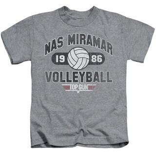 Top Gun/Nas Miramar Volleyball Short Sleeve Juvenile Graphic T-Shirt in Heather