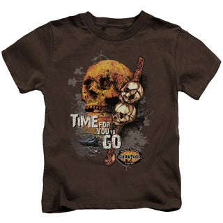 Survivor/Time To Go Short Sleeve Juvenile Graphic T-Shirt in Coffee