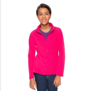 French Toast Girls' Mock-neck Fleece Pullover