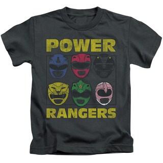 Powr Rangers/Ranger Heads Short Sleeve Juvenile Graphic T-Shirt in Charcoal