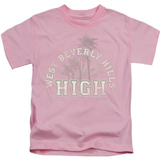 90210/West Beverly Hills High Short Sleeve Juvenile Graphic T-Shirt in Pink