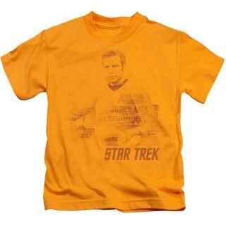 Star Trek/Kirk Words Short Sleeve Juvenile Graphic T-Shirt in Gold