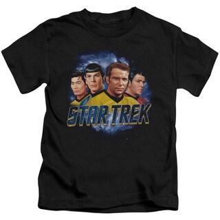Star Trek/The Boys Short Sleeve Juvenile Graphic T-Shirt in Black