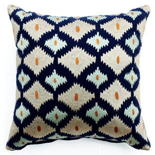 Bali Ikat Multicolored Cotton Throw Pillow