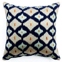 Bali Ikat Multicolored Throw Pillow