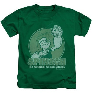 Popeye/Green Energy Short Sleeve Juvenile Graphic T-Shirt in Kelly Green