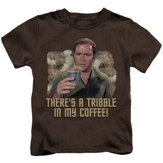 Star Trek/Coffee Tribble Short Sleeve Juvenile Graphic T-Shirt in Coffee