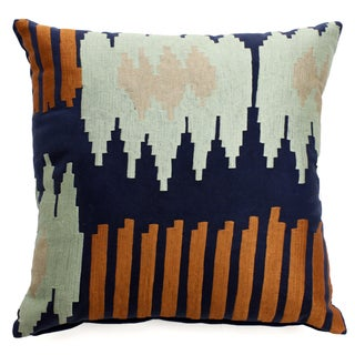 Bali Ikat Multicolor Cotton Polyester-fill Throw Pillow