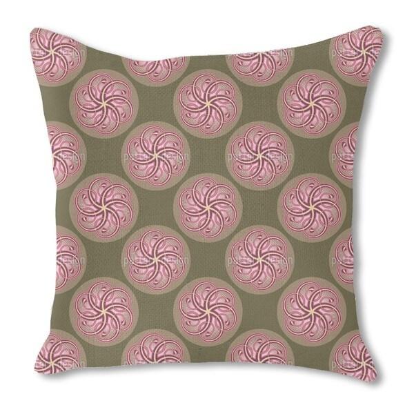Twirl Burlap Pillow Single Sided