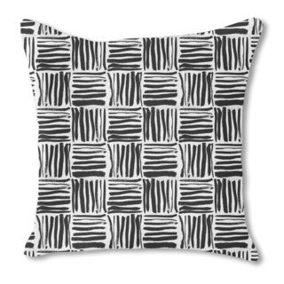 Painted Stripes Burlap Pillow Single Sided