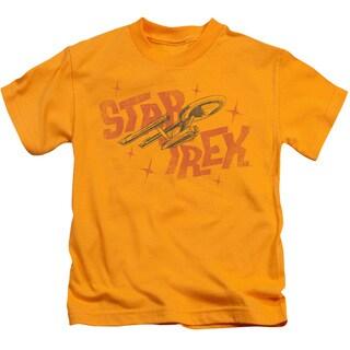 Star Trek/Halftone Logo Short Sleeve Juvenile Graphic T-Shirt in Gold