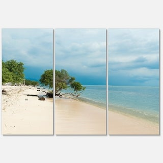 Beautiful Coastline in Indonesia - Modern Seascape Metal Wall At - 36Wx28H