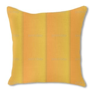 Solid Gold Burlap Pillow Double Sided