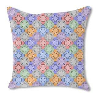 Mosaic Floral Burlap Pillow Single Sided