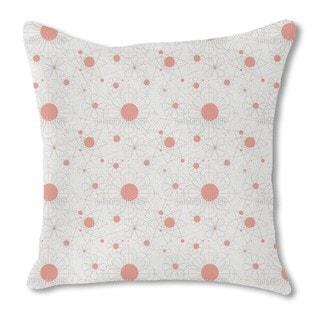 Construction Floral Burlap Pillow Single Sided