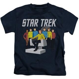 Star Trek/Vector Crew Short Sleeve Juvenile Graphic T-Shirt in Navy