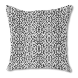 Black and White Pop Burlap Pillow Single Sided