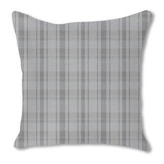 Tartan Grey Burlap Pillow Double Sided