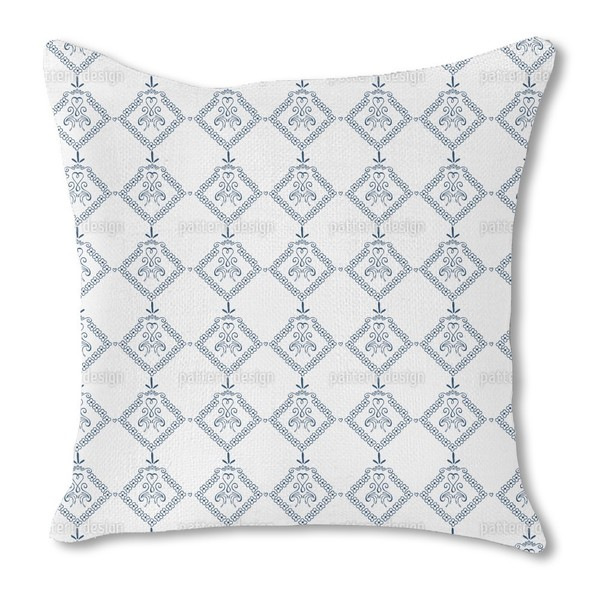 Dekora Blue Burlap Pillow Single Sided