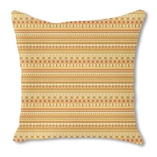 Hello Africa Burlap Pillow Single Sided