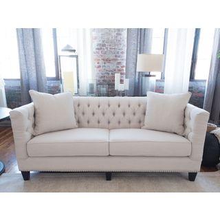 South Beach Seashell Fabric Sofa