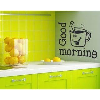 Good Morning' Wall Decal/Sticker/Mural Vinyl Art Home Decor