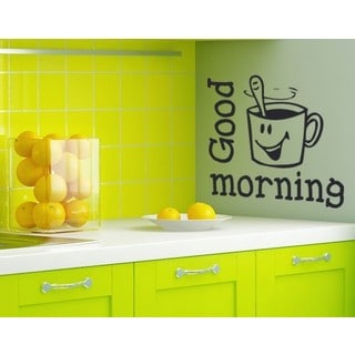 Good Morning' Wall Decal/Sticker/Mural Vinyl Art Home Decor