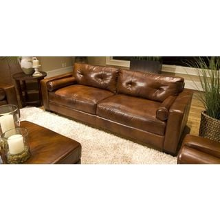 Soho Top Grain Leather Sofa in Rustic
