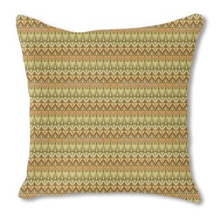 Chevron Rows Burlap Pillow Single Sided