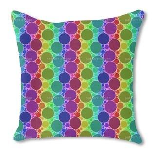 Starkly Circles Burlap Pillow Single Sided