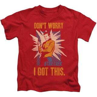 Star Trek/Got This Short Sleeve Juvenile Graphic T-Shirt in Red