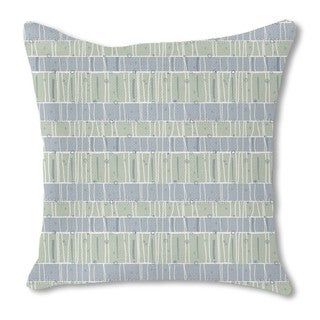 Pastel Lines Burlap Pillow Single Sided