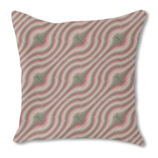 Vertigo Check Burlap Pillow Single Sided