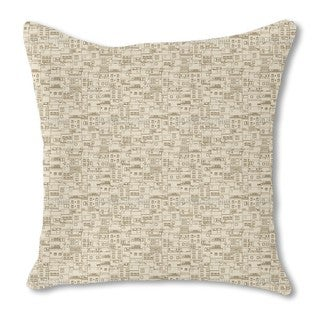 Small Part of Town Monochrome Burlap Pillow Double Sided