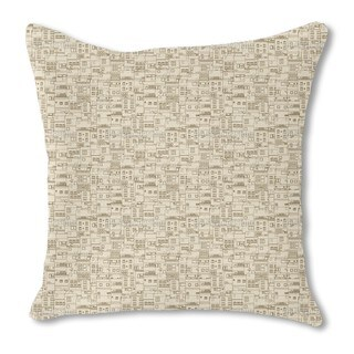 Small Part of Town Monochrome Burlap Pillow Single Sided