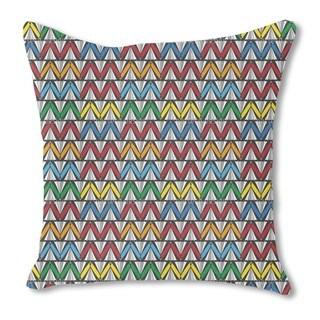 Zigzag Fun Burlap Pillow Single Sided