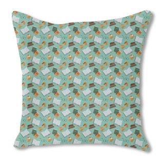 Open Book Burlap Pillow Single Sided