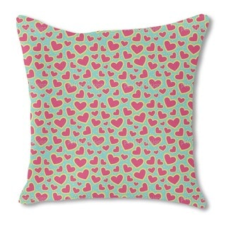 I Am So Wild About Your Strawberry Heart Burlap Pillow Double Sided