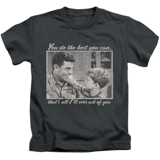 Andy Griffith/Wise Words Short Sleeve Juvenile Graphic T-Shirt in Charcoal
