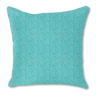 Aqua Love Burlap Pillow Double Sided