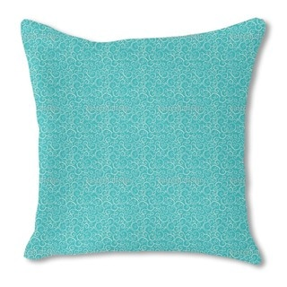 Aqua Love Burlap Pillow Single Sided