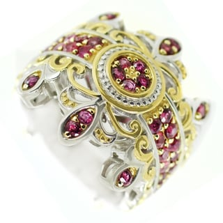 One-of-a-kind Michael Valitutti Siamese Ruby Cocktail Ring